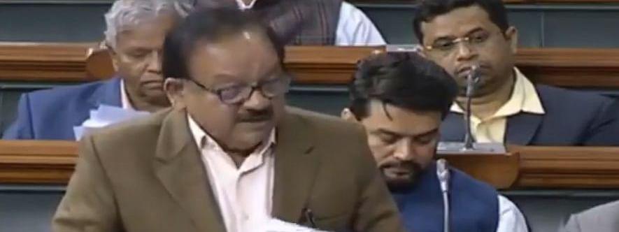 File photo of Health Minister Harsh Vardhan speaking in the Lok Sabha in New Delhi on February 10, 2020.