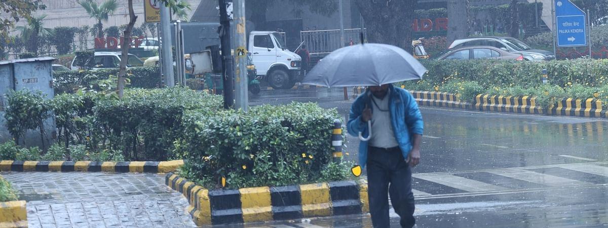 File photo of rains lashing New Delhi on January 16, 2020.
