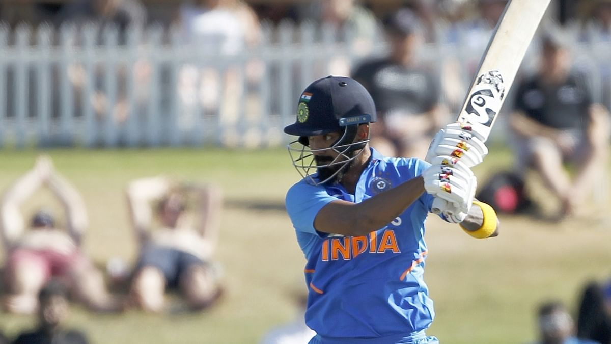 India's K L Rahul in action in the 3rd ODI against New Zealand at the Bay Oval, Mount Maunganui in New Zealand on February 11, 2020.