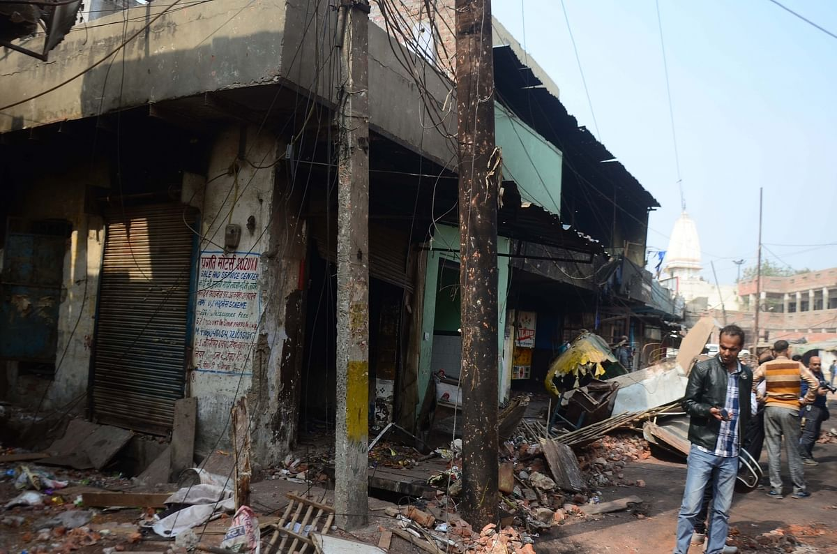 A view of Brijpuri area in violence-hit North-East Delhi, on February 28, 2020.