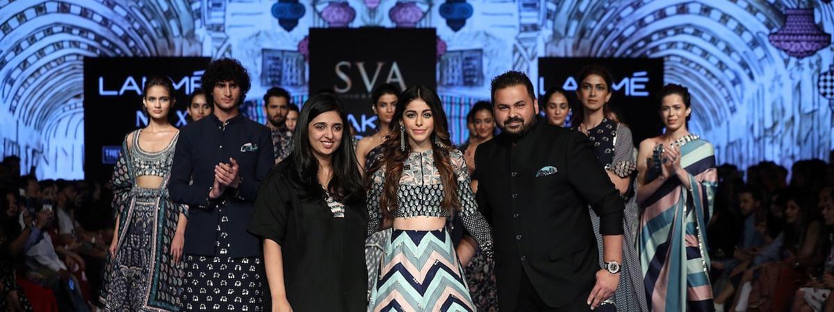 Alaya Furniturewala walks for SVA by Sonam and Paras Modi at Lakme Fashion Week Summer/Resort 2020 in Mumbai on February 15, 2020.