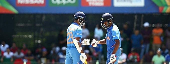 India's Yashasvi Jaiswal and Tilak Varma during the ICC U19 World Cup final between India and Bangladesh, in Potchefstroom, South Africa on Februay 9, 2020.
