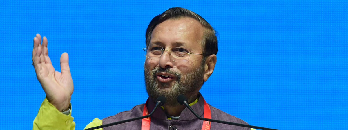 Union Minister for Environment, Forest & Climate Change Prakash Javadekar addressing the inaugural session of the 13th Conference of the Parties to the Convention on Migratory Species, in Gandhinagar, Gujarat on February 17, 2020.