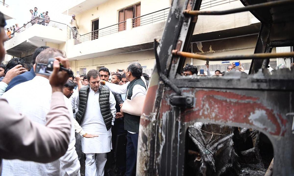 Violence benefits none, harms people and Bharat Mata: Rahul