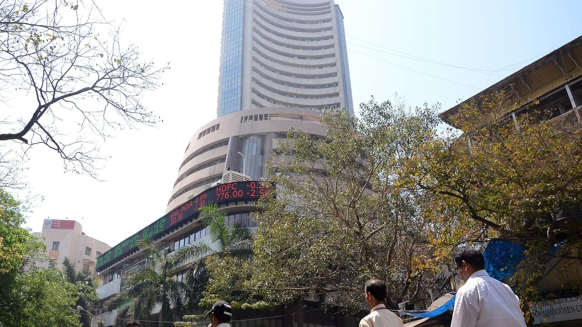 Sensex in red amid choppy trade session, weak Asian cues