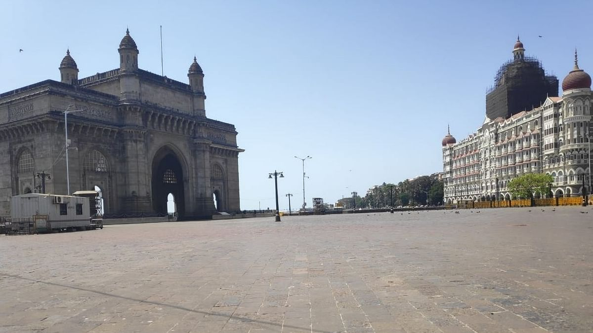Gateway of India in Mumbai wears a deserted look during a lock down ordered by the Maharashtra Government in the wake of increasing cases of coronavirus, on March 21, 2020.