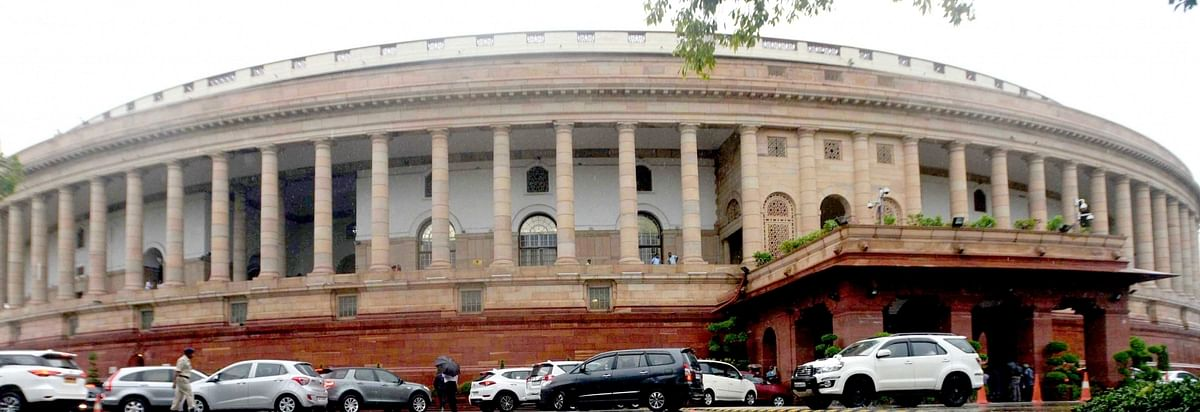 Suspended Congress MPs continue protest outside Parliament