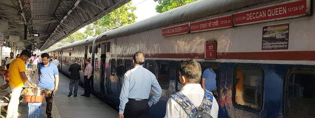 The Deccan Queen at Pune station