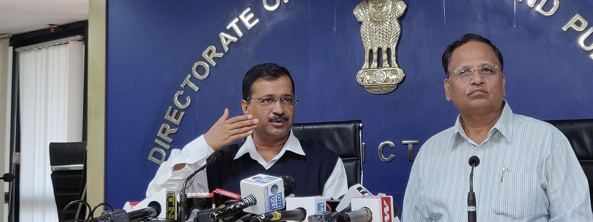 Delhi Chief Minister Arvind Kejriwal addressing a press conference in New Delhi, on March 16, 2020.