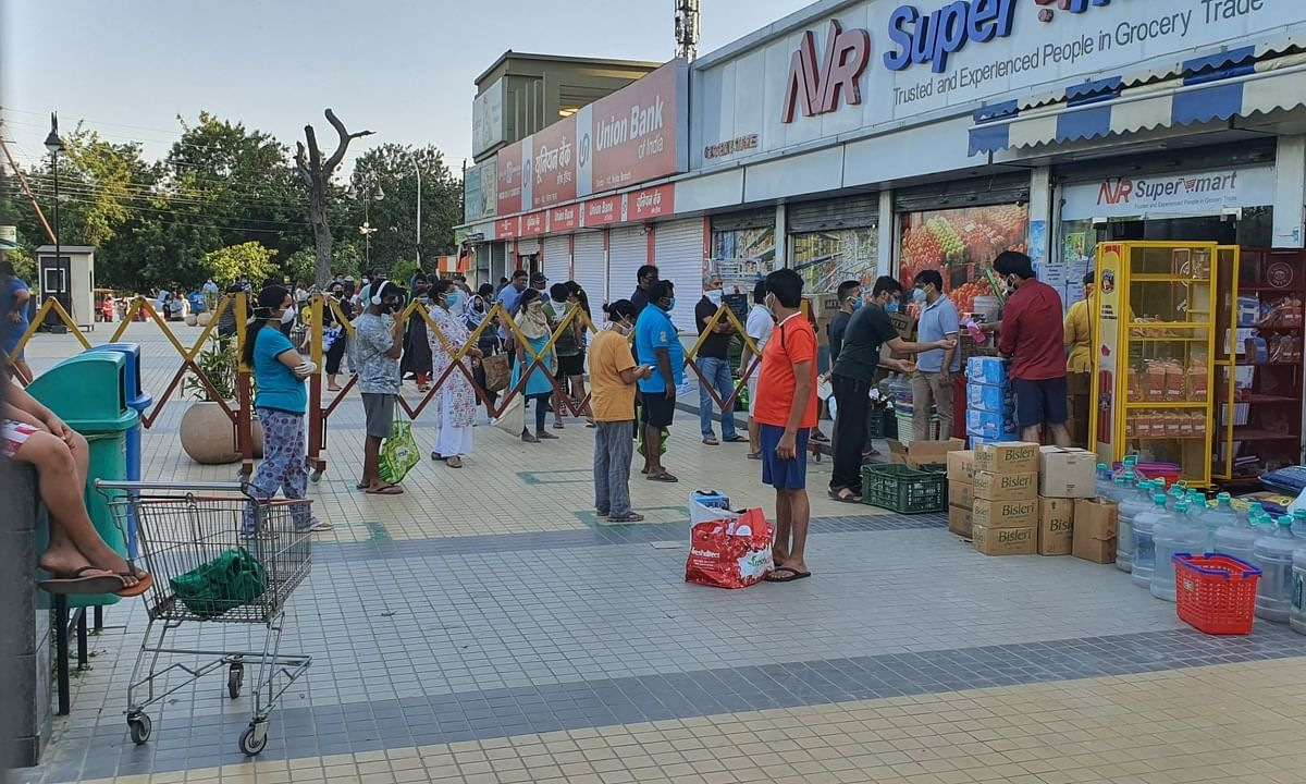 People stock up on essentials after UP announces sealing of hotspots in 15 districts