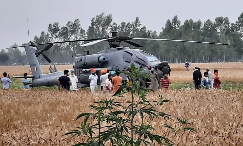IAF's Apache helicopter lands in field in Punjab after technical glitch