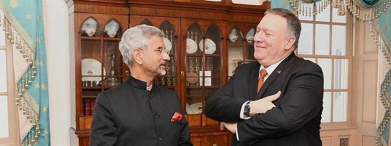 File photo of External Affairs Minister meeting US Secretary of State Michael Pompeo during the India-USA 2+2 meeting in Washington, on December 18, 2019.