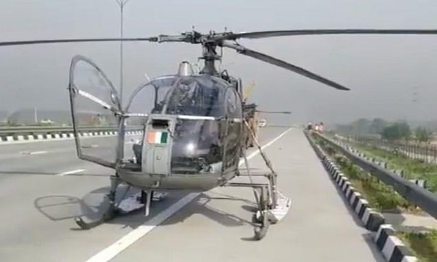 IAF chopper on COVID duty lands on expressway in Baghpat