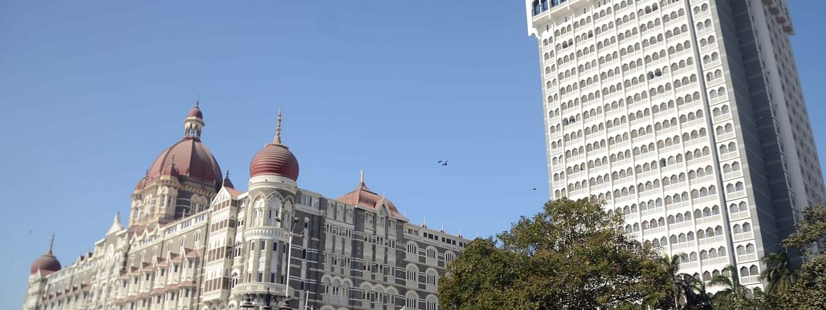 A view of the Taj Mahal Palace Hotel in Mumbai.