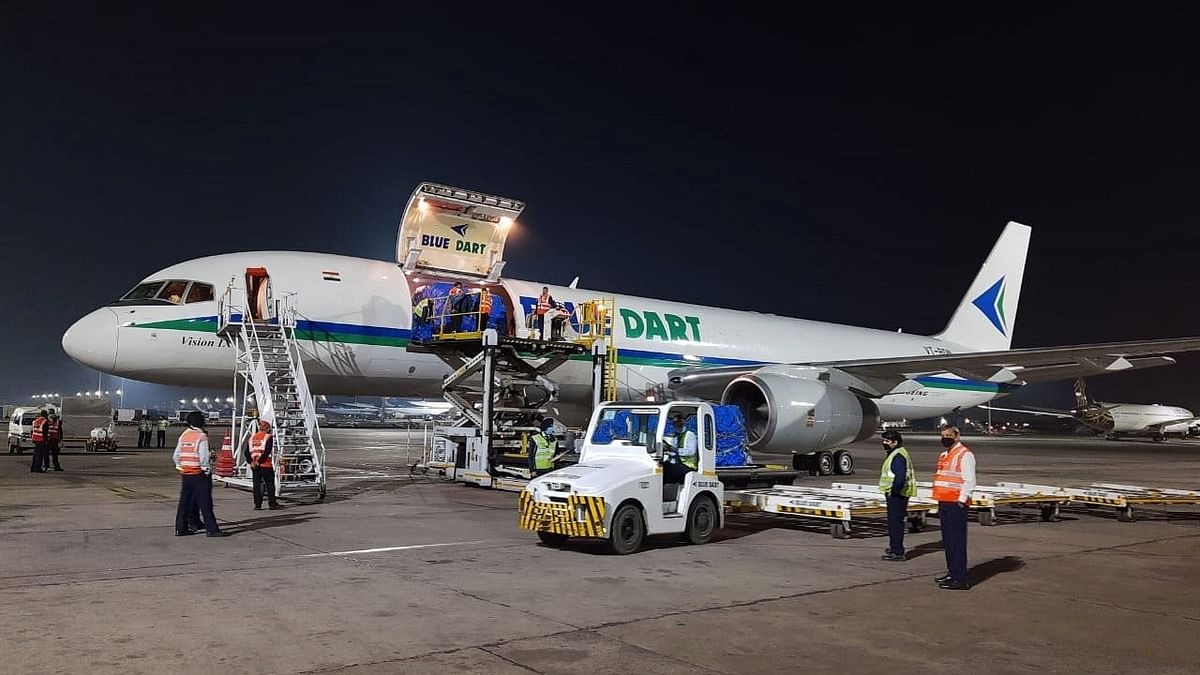 Private airlines transport domestic medical cargo of about 2,675 tonnes