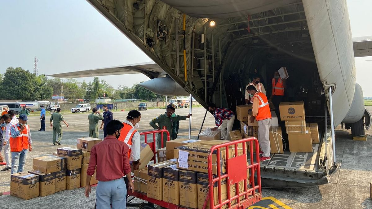 IAF airlifts 25 tonnes essential medical supplies in fight against COVID-19