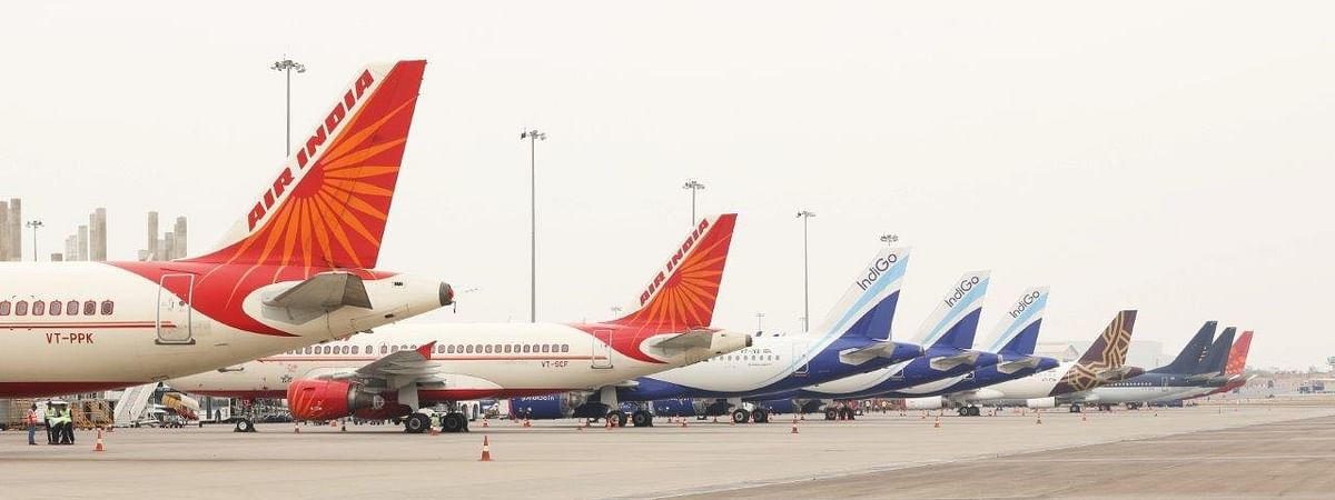 Aircraft parked at the Rajiv Gandhi International Airport in Hyderabad during the nationwide lockdown imposed to contain the spread of coronavirus (COVID-19), on April 9, 2020.
