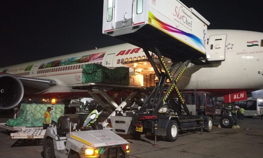 Air India ferries 21 tonnes of critical medical supplies from China to India