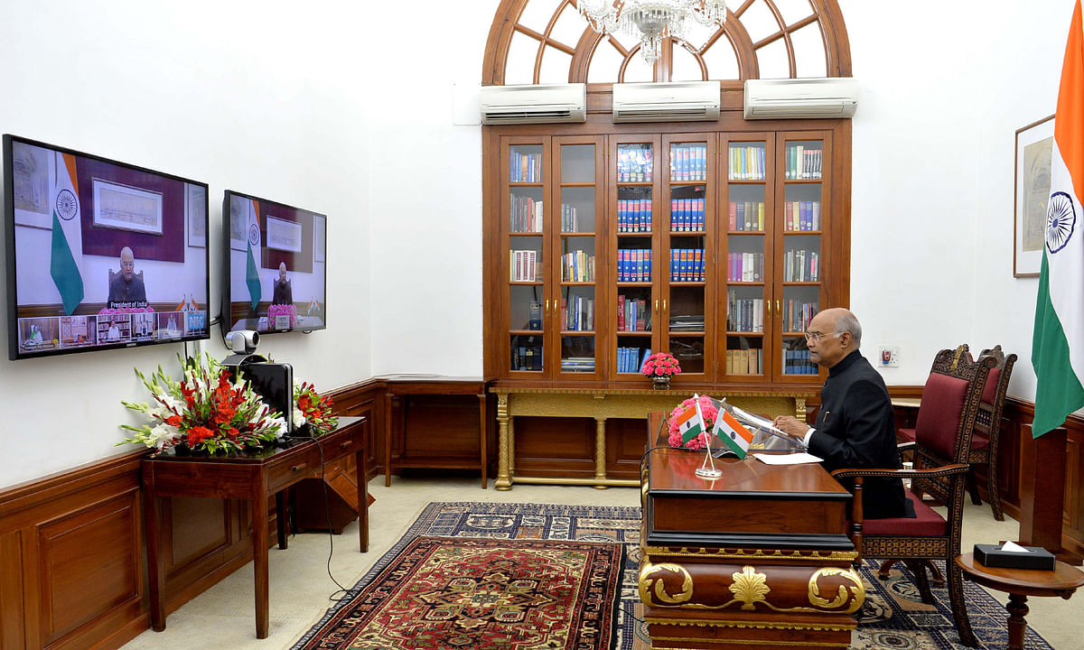 Kovind, Naidu discuss COVID-19 situation with Governors, LGs and Administrators