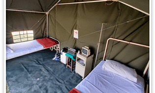 Two-bed tents for COVID-19 screening, quarantine from Ordnance Factory Board