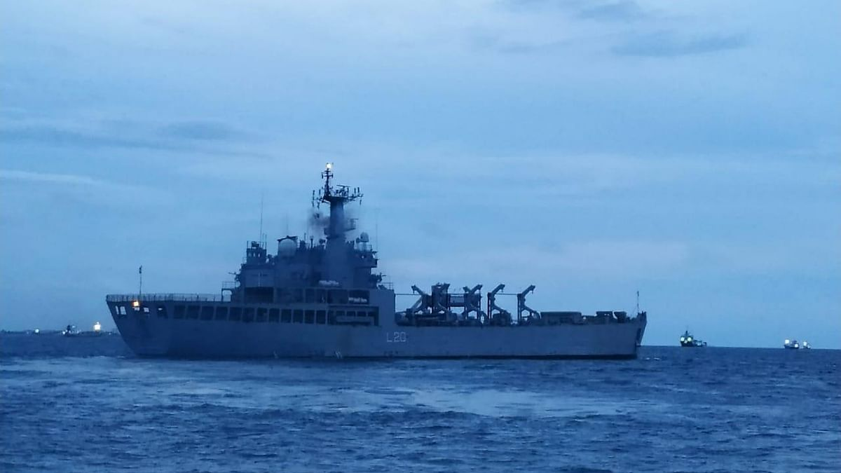 INS Magar departs from Male for Kochi with 202 stranded Indians