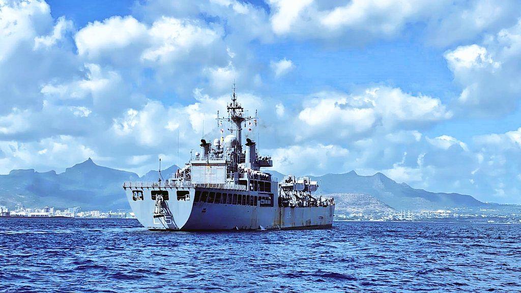 INS Kesari reaches Mauritius with medicines