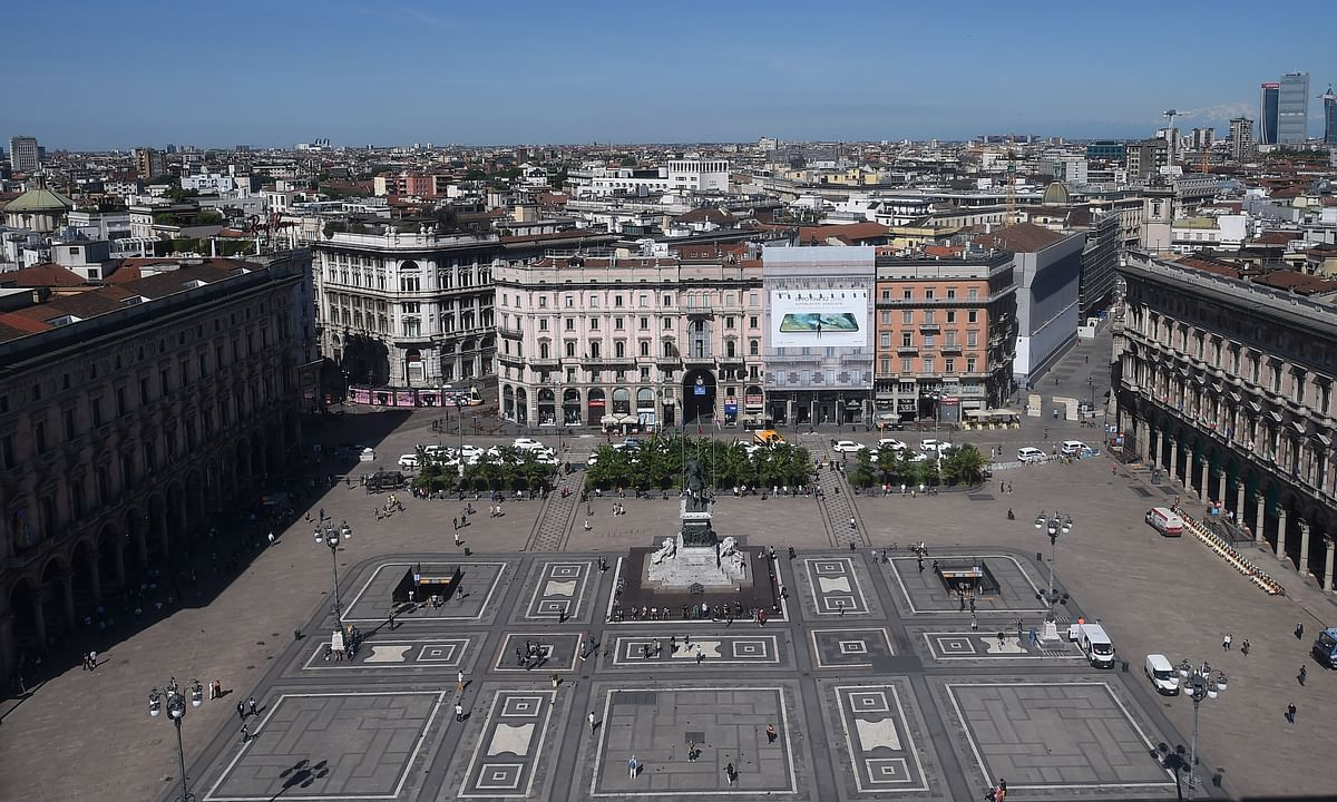A view of the city of Milan in Italy, on May 25, 2020.