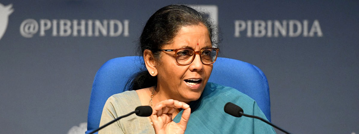 Finance Minister Nirmala Sitharaman addressing a press conference in New Delhi, on May 17, 2020.