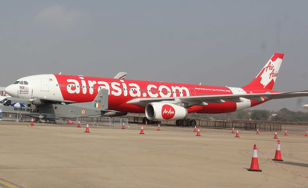 File photo of an Air Asia aircraft