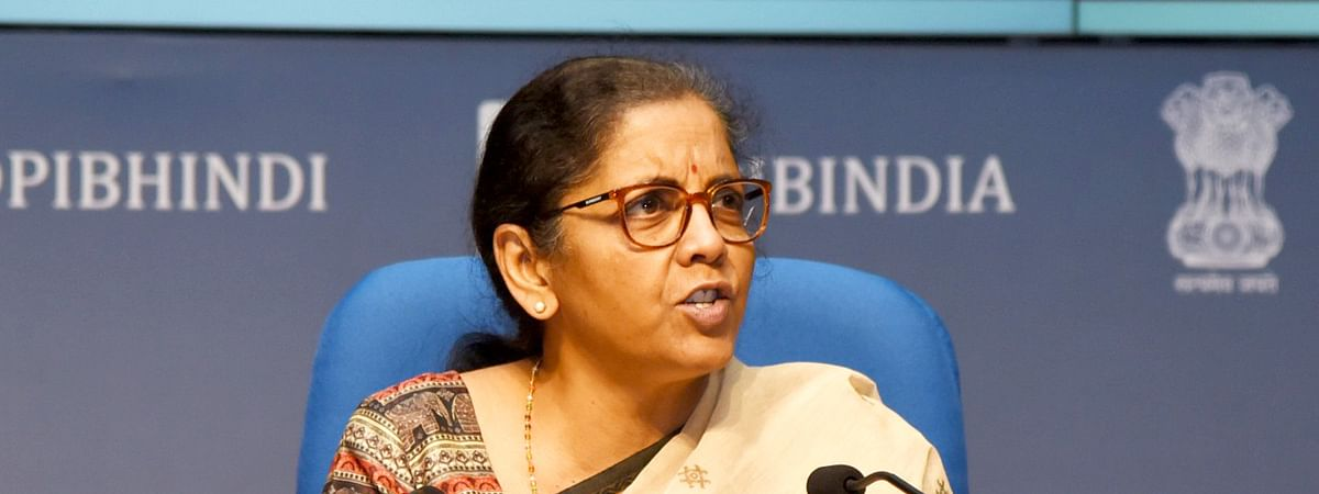 Finance Minister Nirmala Sitharaman addressing a press conference in New Delhi, on May 16, 2020.