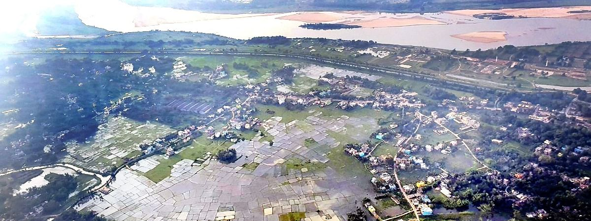 An aerial view of the affected areas of Odisha, a day after cyclone Amphan wreaked havoc in the state, on May 21, 2020.