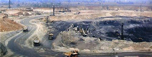 An open cast coal mine