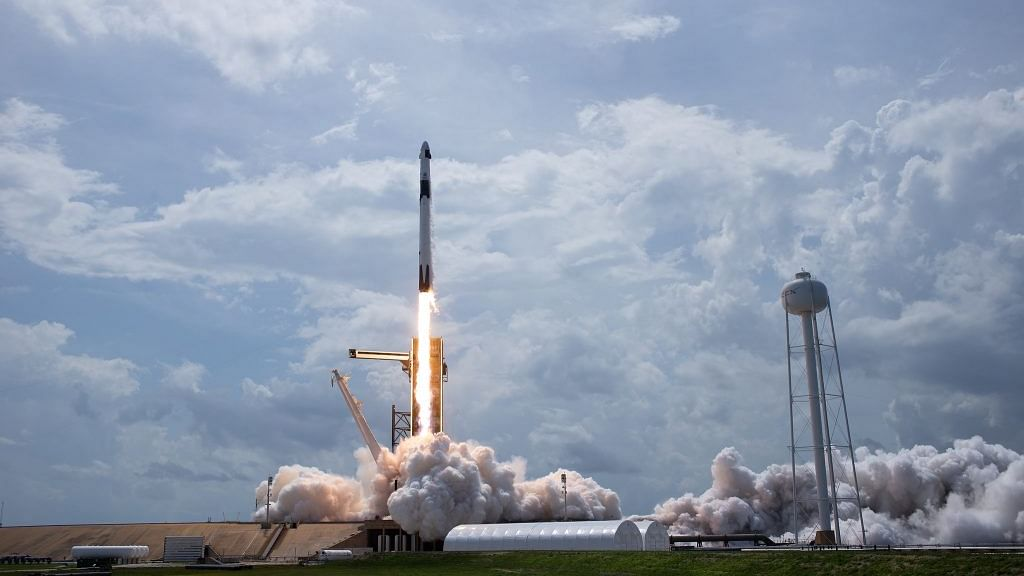 NASA's SpaceX Demo-2 flight takes off with two astronauts aboard