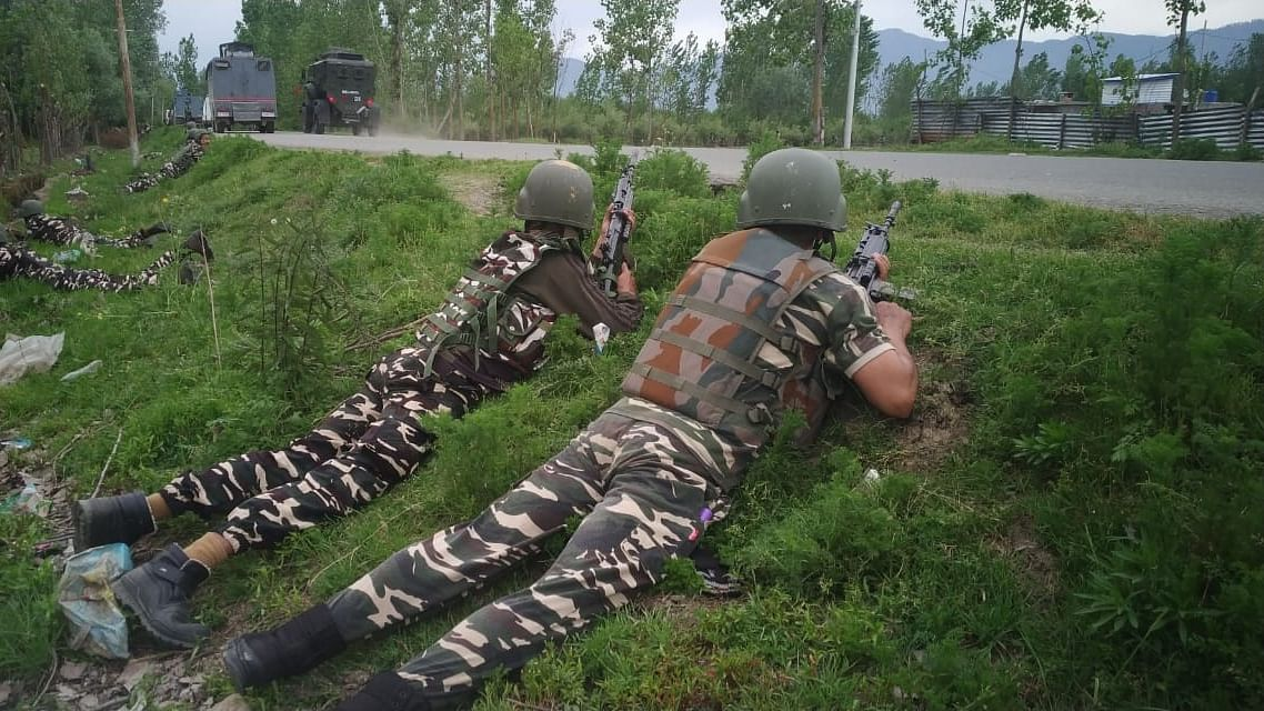 File photo of security personnel in Jammu and Kashmir.
