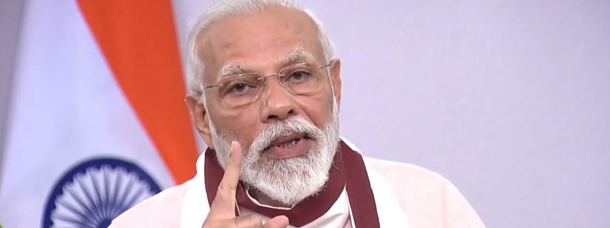 Prime Minister Narendra Modi addressing the nation on COVID-19-related issues, on May 12, 2020.