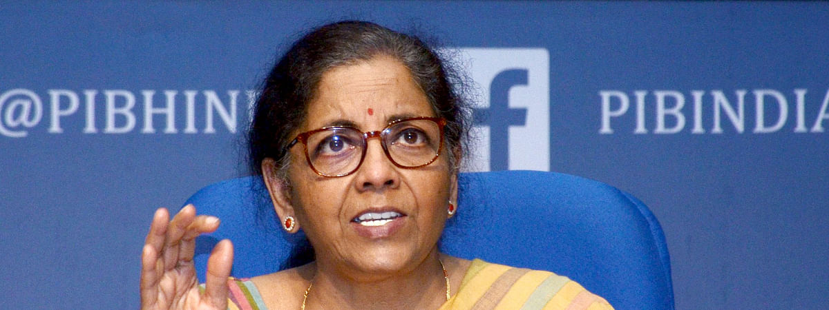 FInance Minister Nirmala Sitharaman addressing a press conference in New Delhi on May 14, 2020.