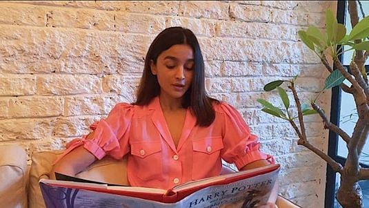 Actress Alia Bhatt reading out a chapter from 'Harry Potter And The Philosopher's Stone' as a part of the 'Harry Potter At Home' initiative.