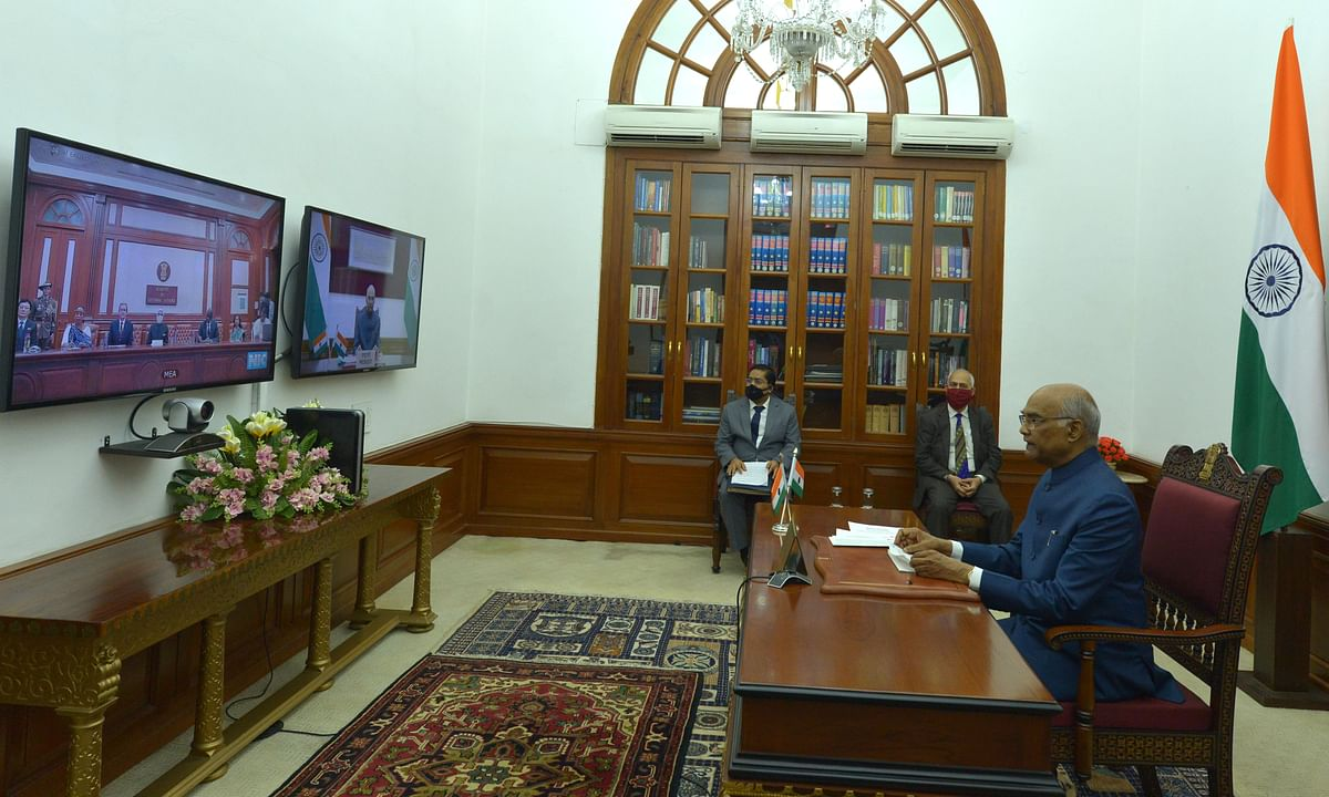 Envoys of seven nations present credentials to President through video-conference