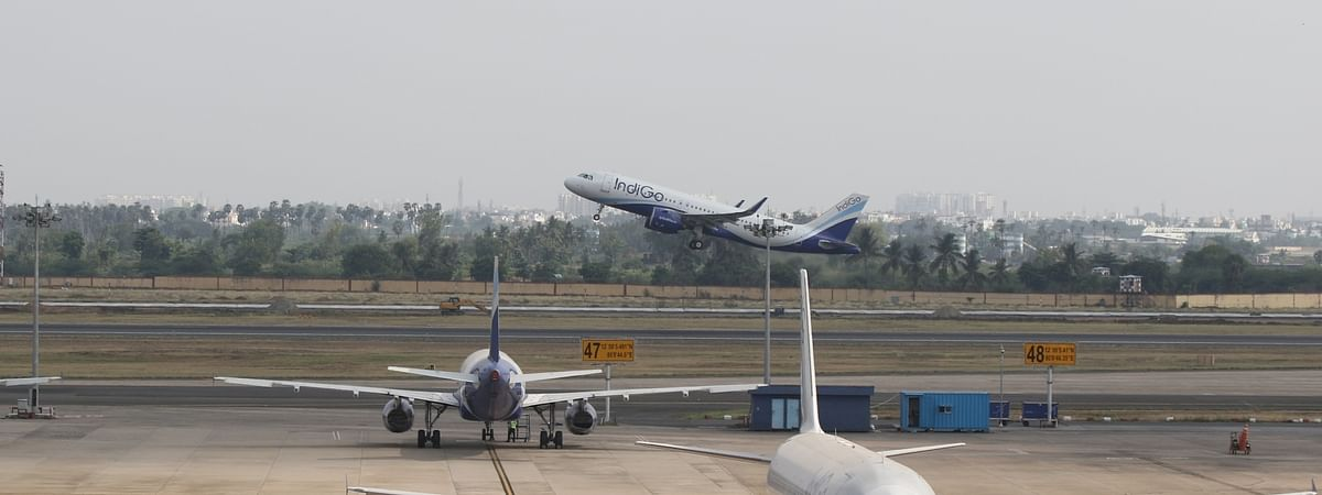 A view of the Chennai airport, as domestic passenger air services resumed in India after a two-month ban in  the wake of the lockdown imposed to contain the spread of COVID-19, on May 25, 2020.