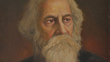 A portrait of Rabindranath Tagore by Upendra Maharathi