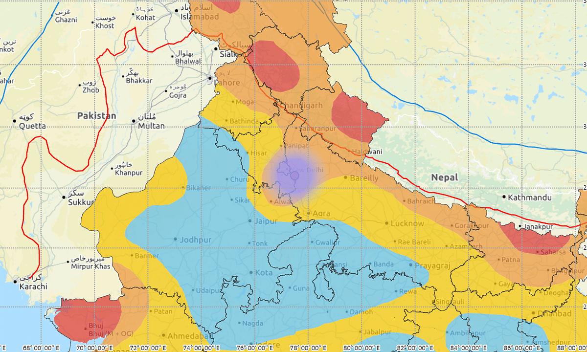 Minor earthquake of magnitude 3 shakes Faridabad near Delhi