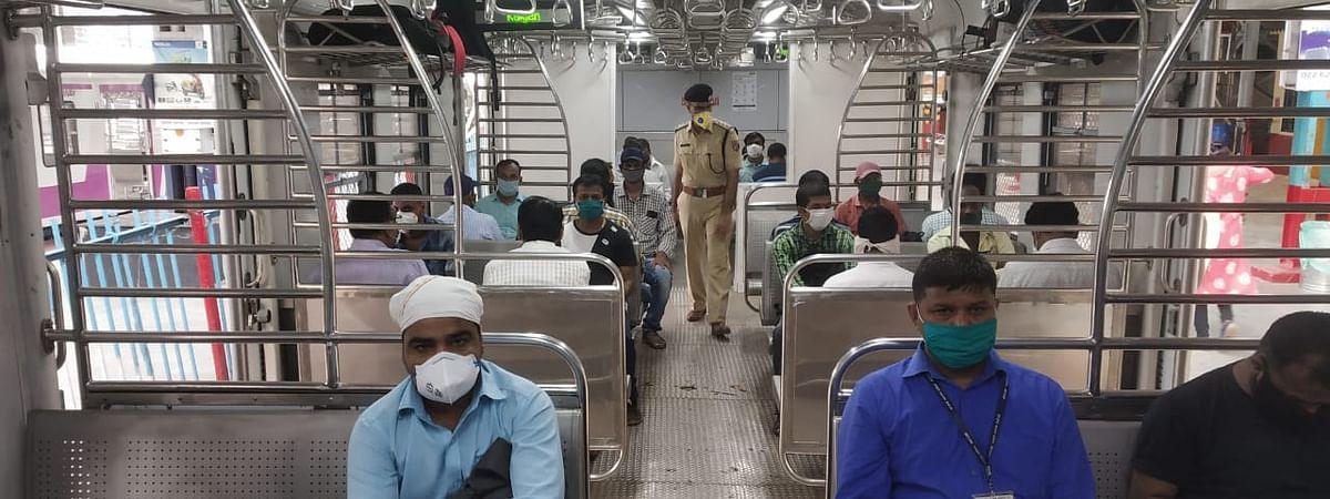 Skeletal suburban train services resume for essential staff in Mumbai