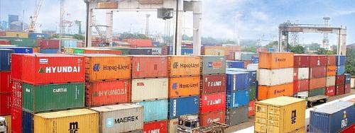 A view of Kolkata Port