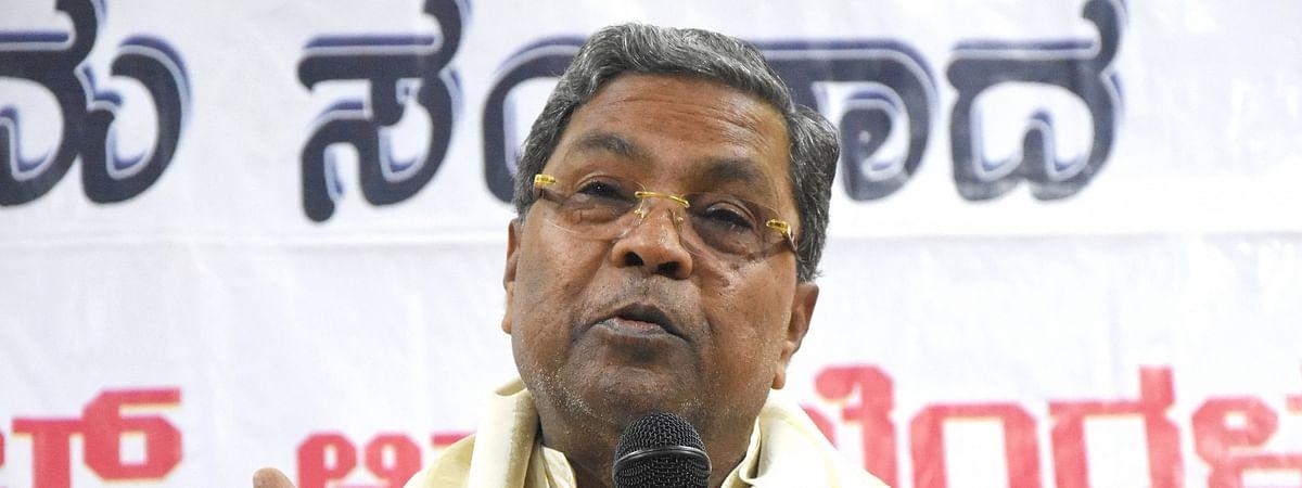 Congress leader Siddaramaiah