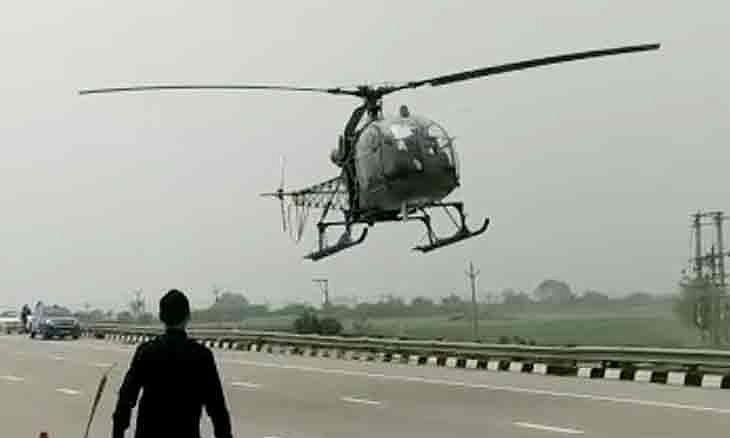 IAF's Cheetah helicopter makes precautionary landing on Eastern Peripheral Expressway near Delhi