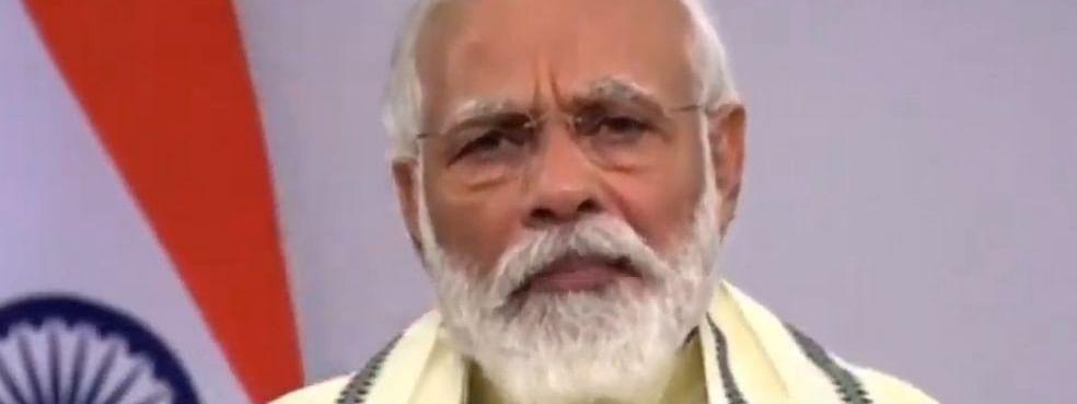 Prime Minister Narendra Modi addressing the nation on June 30, 2020.