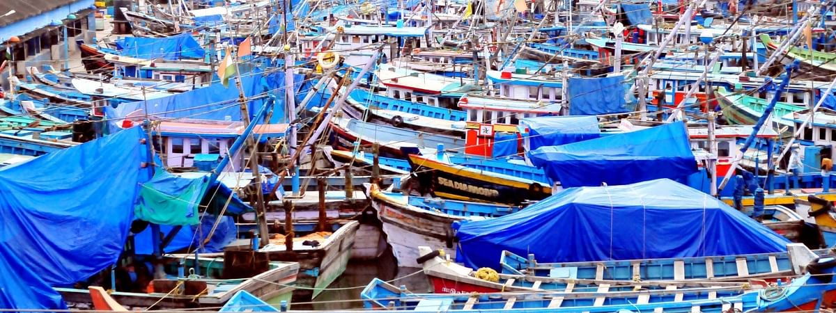 File photo of fishing trawlers anchored at Azhikkal Fishing Harbour in  Kerala.