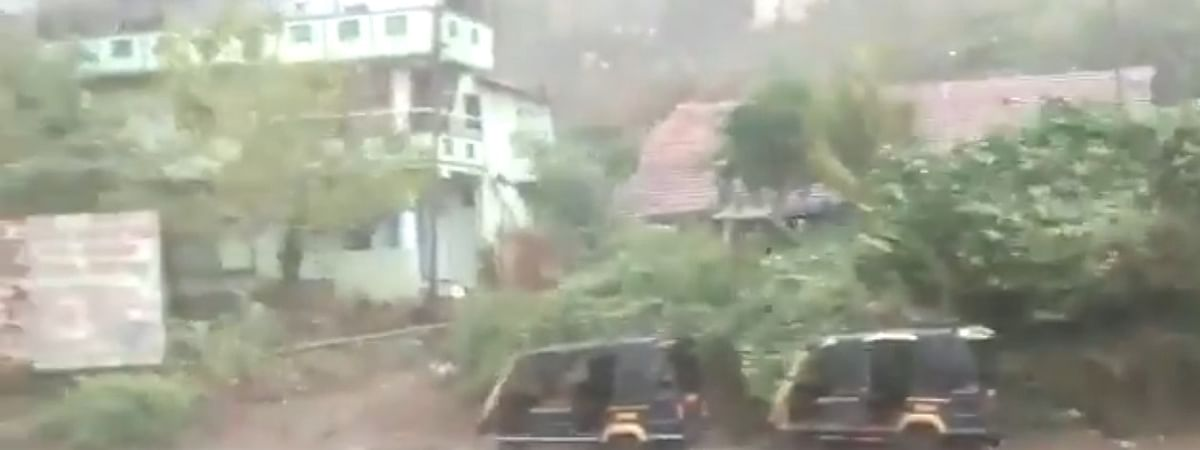 A view of Alibag in Maharashtra after Cyclone Nisarga made landfall near it in the afternoon of June 3, 2020.