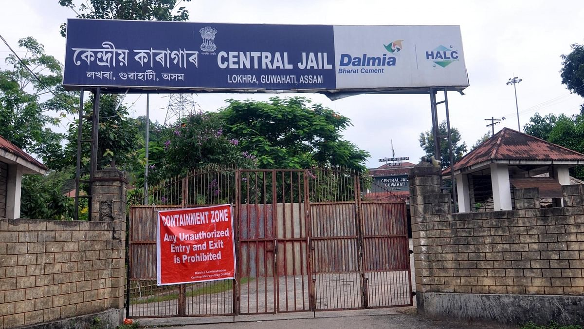 The Guwahati Central Jail, which has been declared as a Containment Zone and sealed after an inmate tested positive for coronavirus, on June 5, 2020.