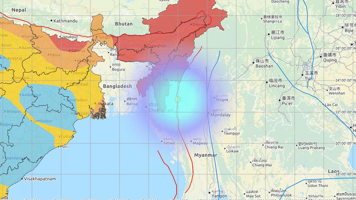 Magnitude 5.0 earthquake shakes Mizoram